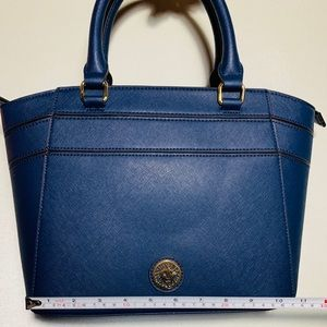 Anne Klein Navy Leather Tote